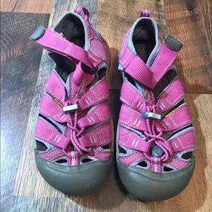 Girls pink and purple Keen sandals